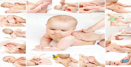 کارگاه آموزشی ماساژ نوزاد
